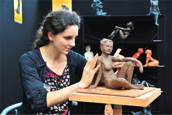 Sculptrice Solenn'Art démonstration
