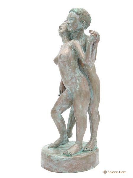Souvent Sculpture couple nu, sculpture danseurs BO69