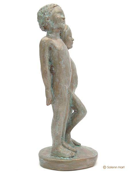 Préférence Sculpture enfants debout, douce fraternité GT68