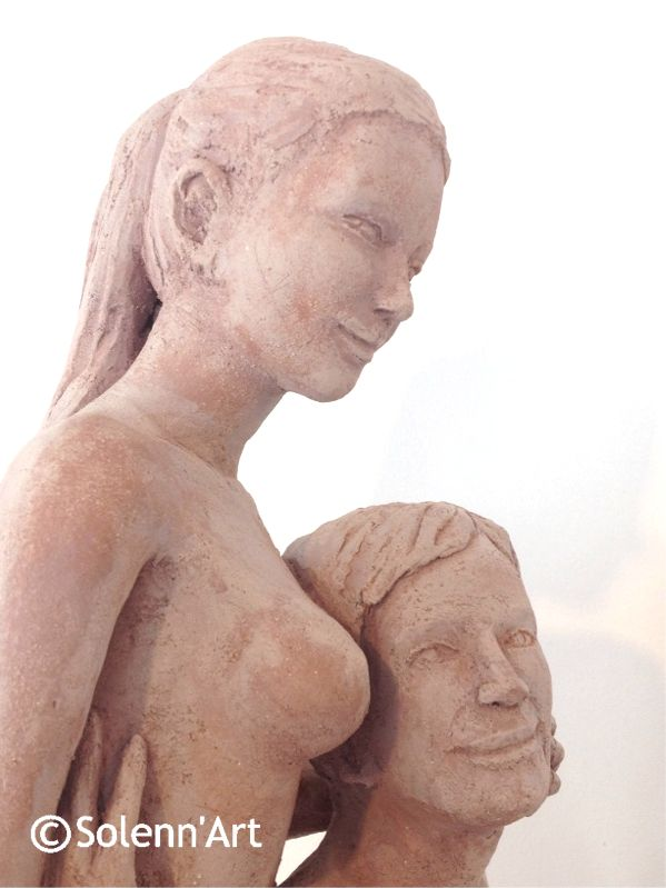 Sculpture portrait couple Solenn sculpteur